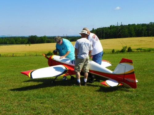Getting a Big Bird ready for some awesome aerobatics