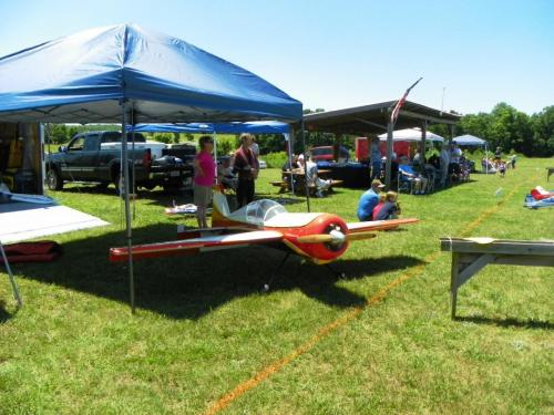 Guests enjoying aerobatics on a perfect day for flying